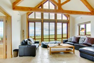 Living Room on-looking stunning views of the Galloway landscape