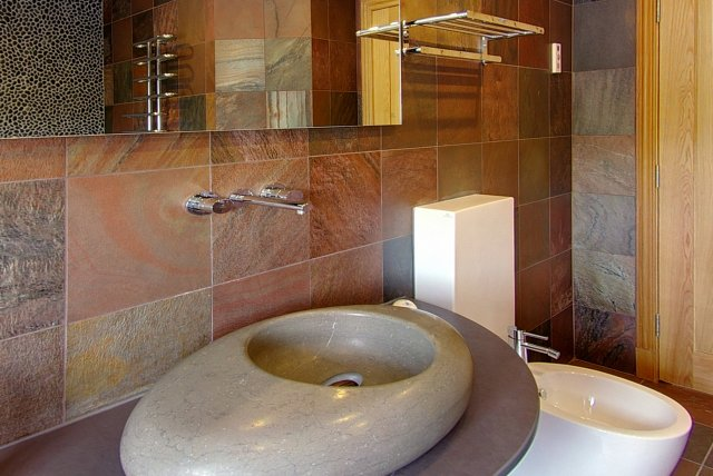 Modern Bathroom in Inchmalloch Holiday Cottage - Luxury Scottish Accommodation