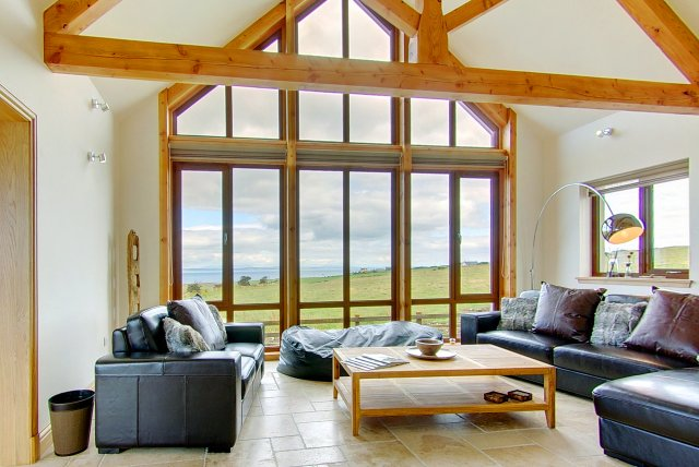 Living Room of Inchmalloch House - Holiday Accommodation in Scotland