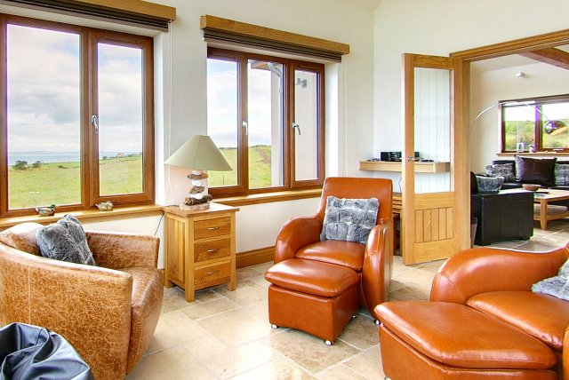 Sunroom of Inchmalloch Holiday Cottage in Scotland
