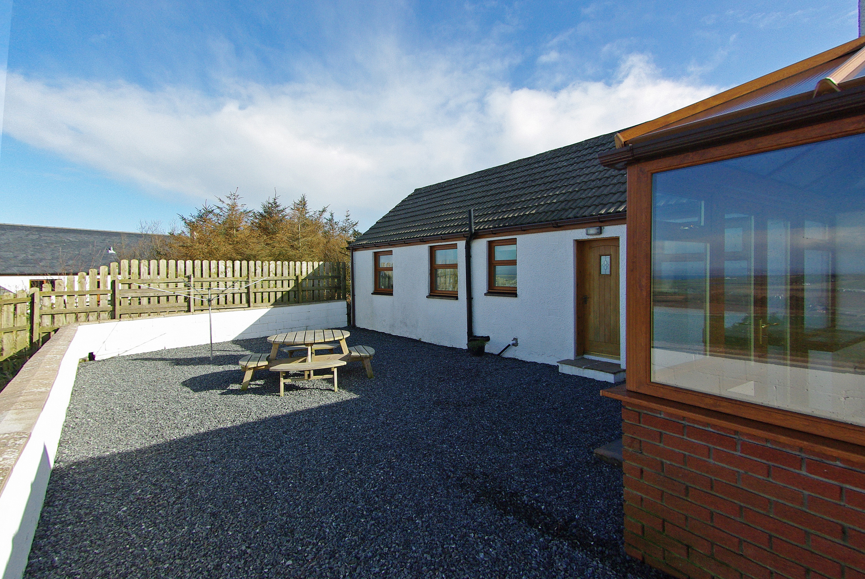 Back exterior of The Cotthouse self catering accommodation in Scotland